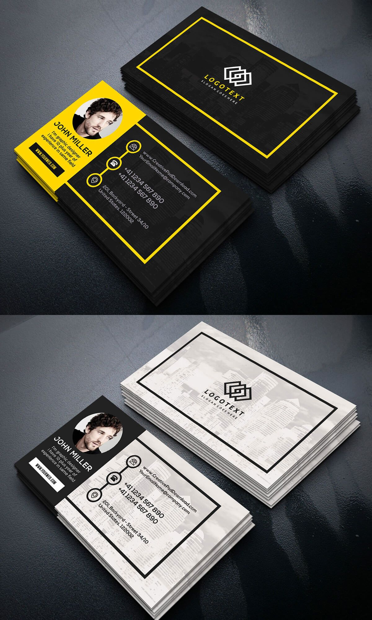 Free Graphic Designer Business Card | Business card psd, Graphic ...
