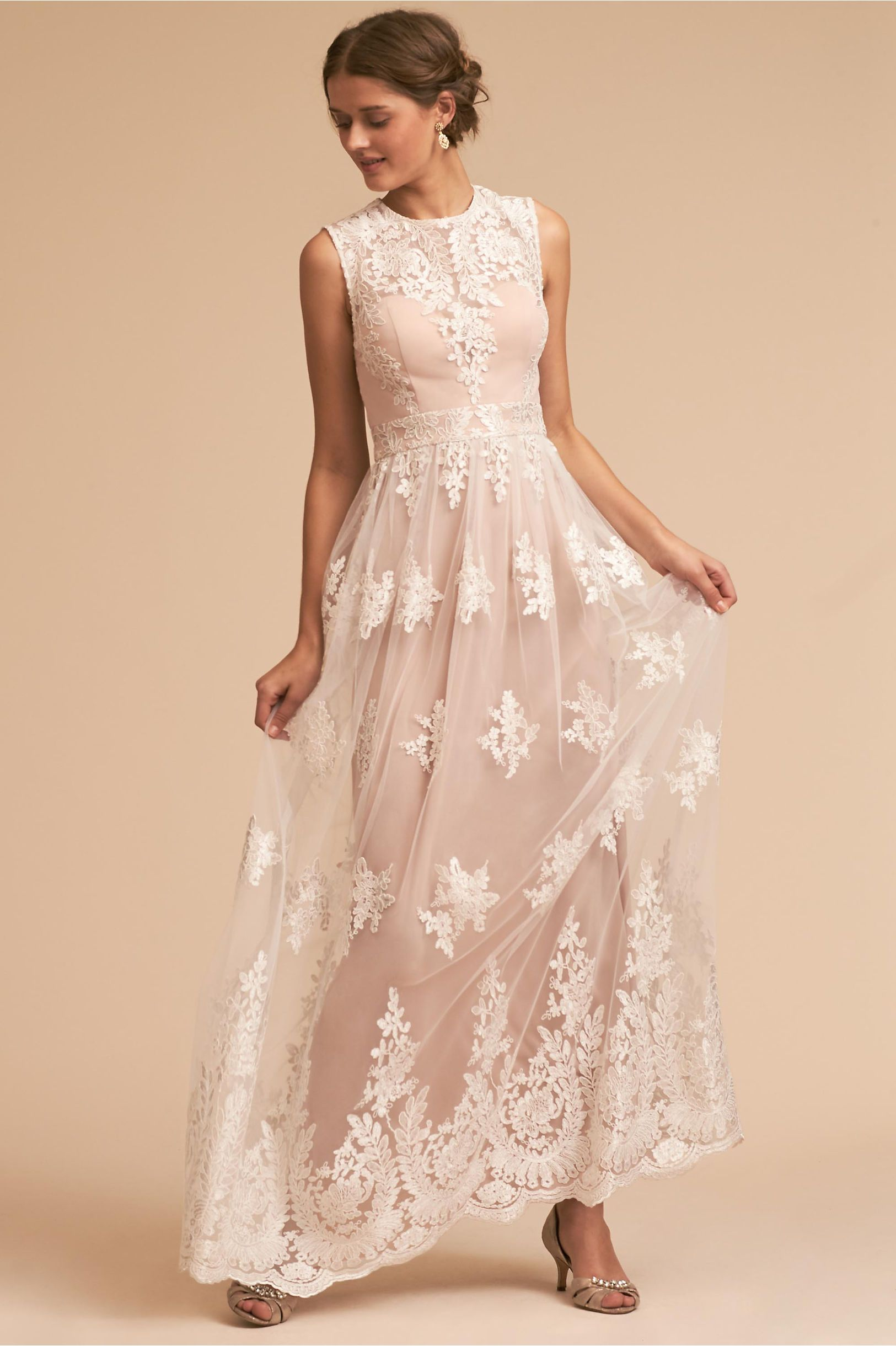 Bhldnus malcolm dress in ivoryblush bridal parties ivory and