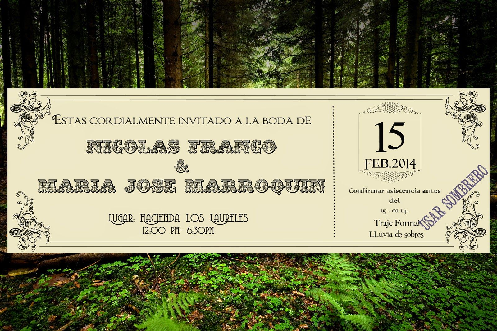 Casa Lefay: Una boda con encanto / A charming Wedding beautiful forest wedding by casa lefay matrimonios bodas invitations invitaciones