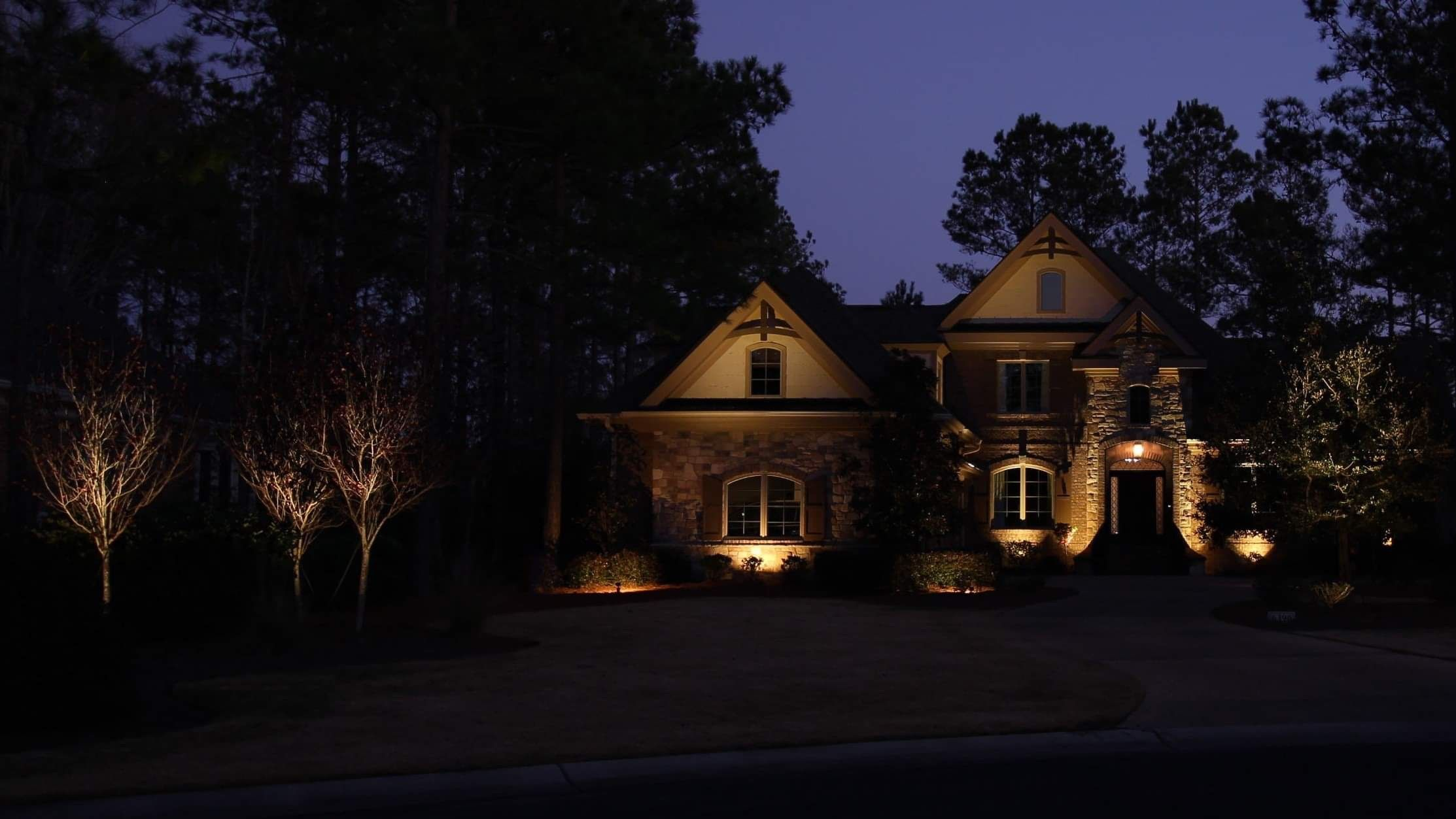 Add Outdoor Lighting For Security With An Aesthetic Appeal Free Consults To Coastal Carolina Reside Outdoor Lighting Holiday Lights Outdoor Landscape Lighting