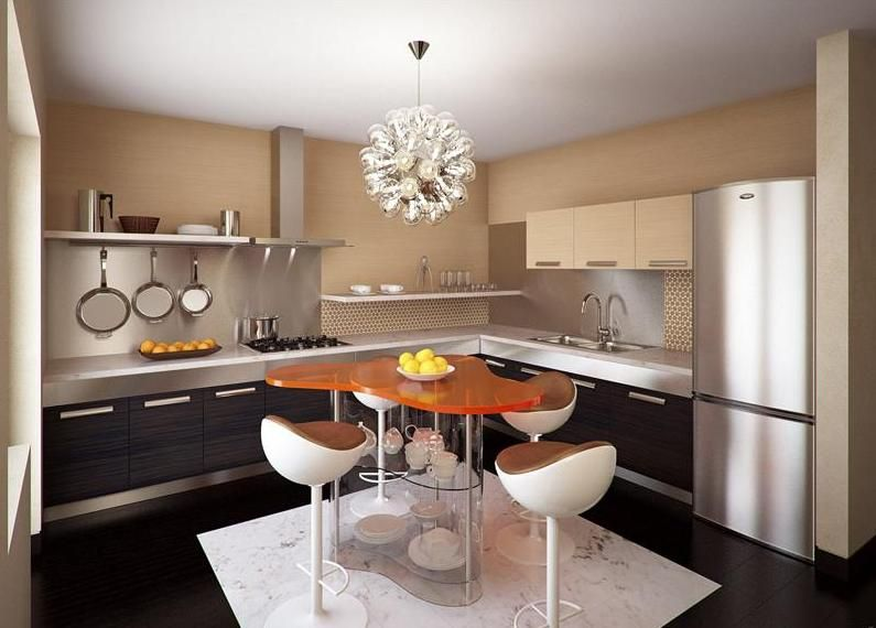 Orange Island  Konyha  Pinterest  Kitchens Interiors And Enchanting Kitchen Interior Design Ideas Inspiration