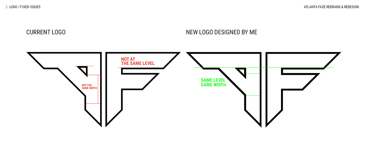Atlanta Faze Rebrand Redesign On Behance In 2021 Faze Logo Rebranding Redesign