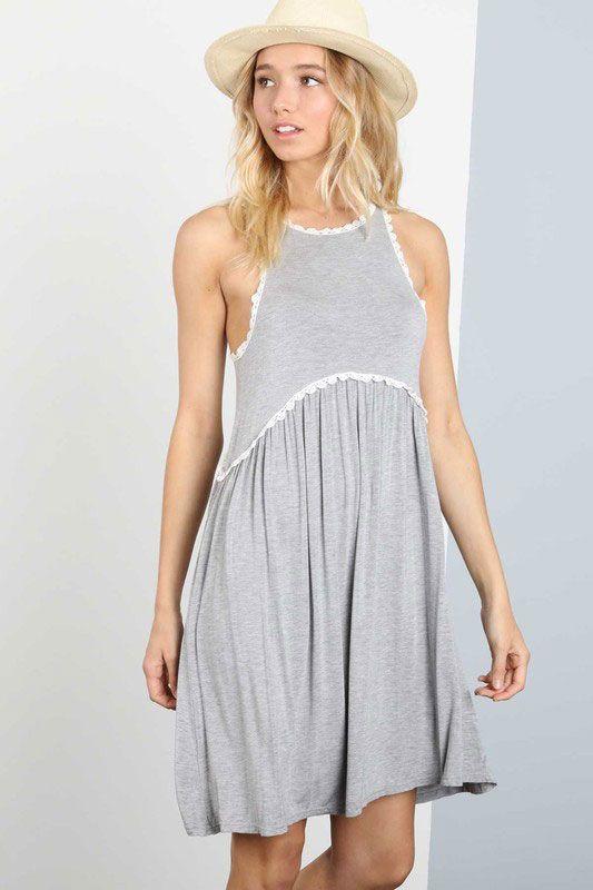 43c9e178d1bd8 POL Clothing Babydoll Dress with Crochet Details RCD79