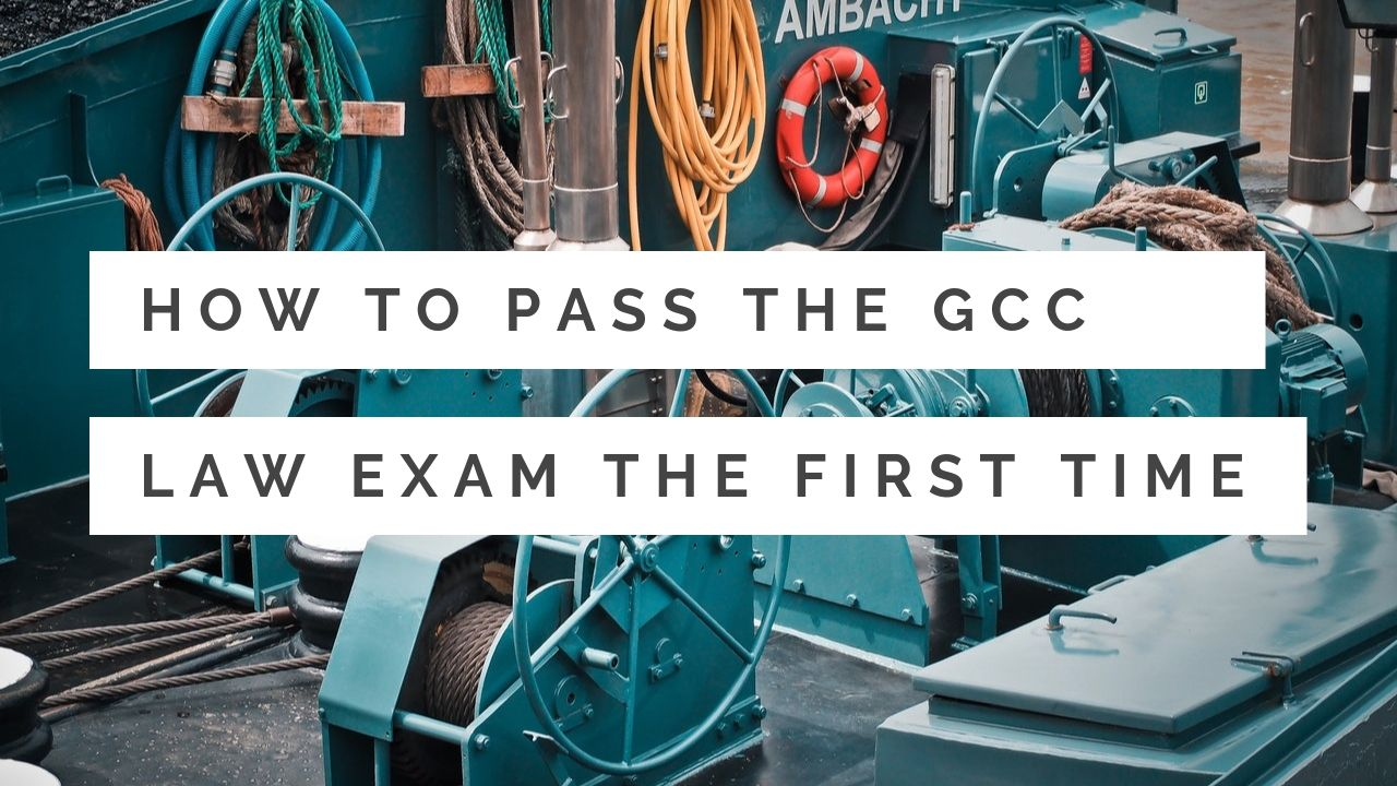 How can you pass the GCC factories law exam the first time