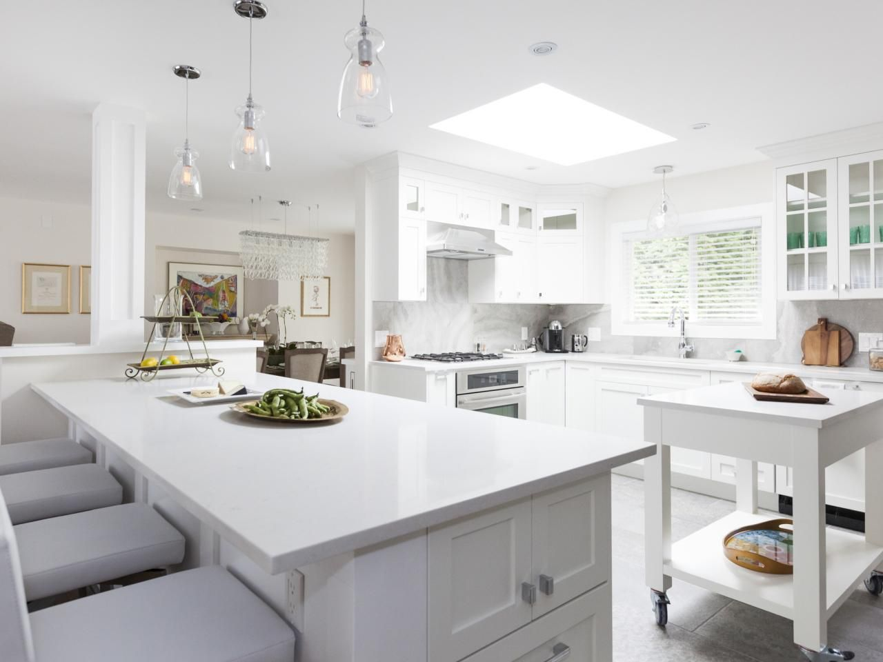 Love It Or List It Too bright white kitchen w/ dog friendly features ...