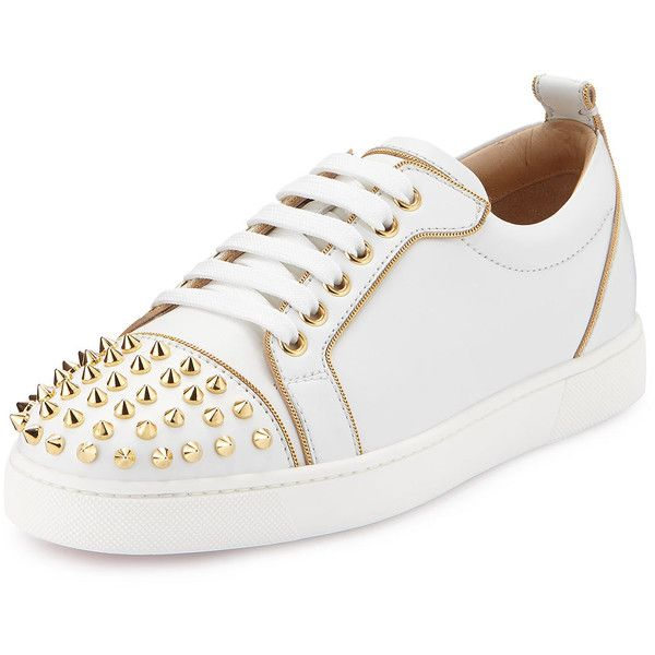 edc51fc611be ... real christian louboutin rush spiked leather low top sneaker 8920 cny  liked on cd126 7c1d0 closeout choose black shoes ...