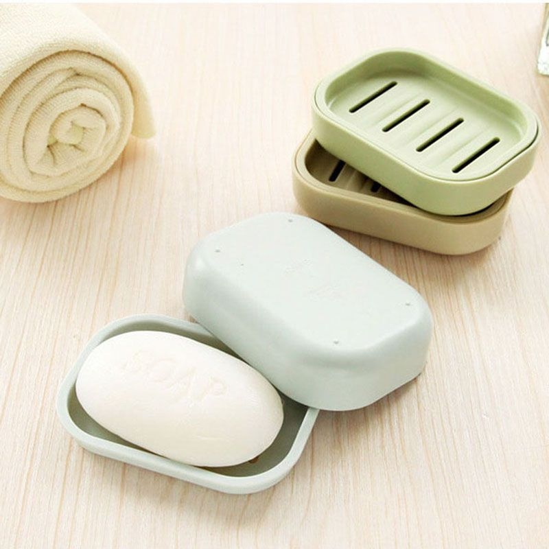 Bathroom Soap Dish Case Holder Container Soap Box Plate Home Storage Box Shower  Soap Dish Tray
