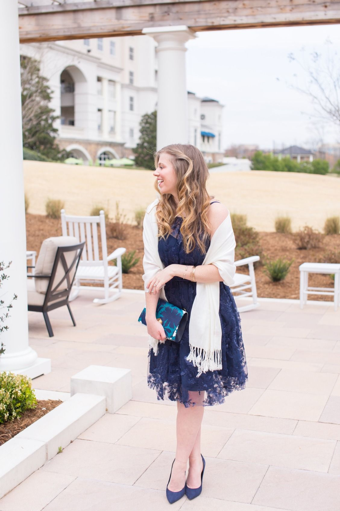 You Can Never Go Wrong With A Navy Dress For Wedding Guest Find