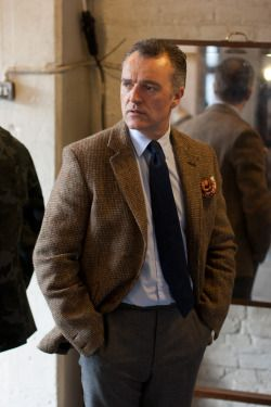 holdhard: Douglas Cordeaux (M.D. of Fox Brothers) modelling a Blake tweed jacket