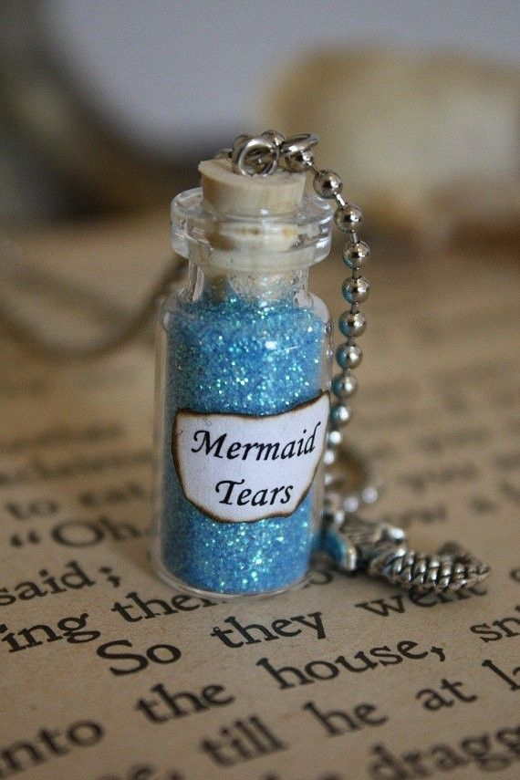 Mermaid Tears Glass Vial Necklace Halloween.disney  halloween