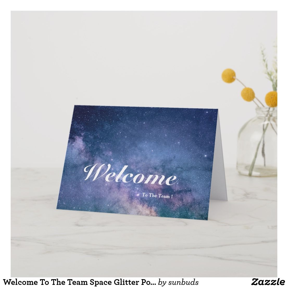 Welcome To The Team Space Glitter Postcard Zazzle Com Welcome To The Team Team Space Welcome Card