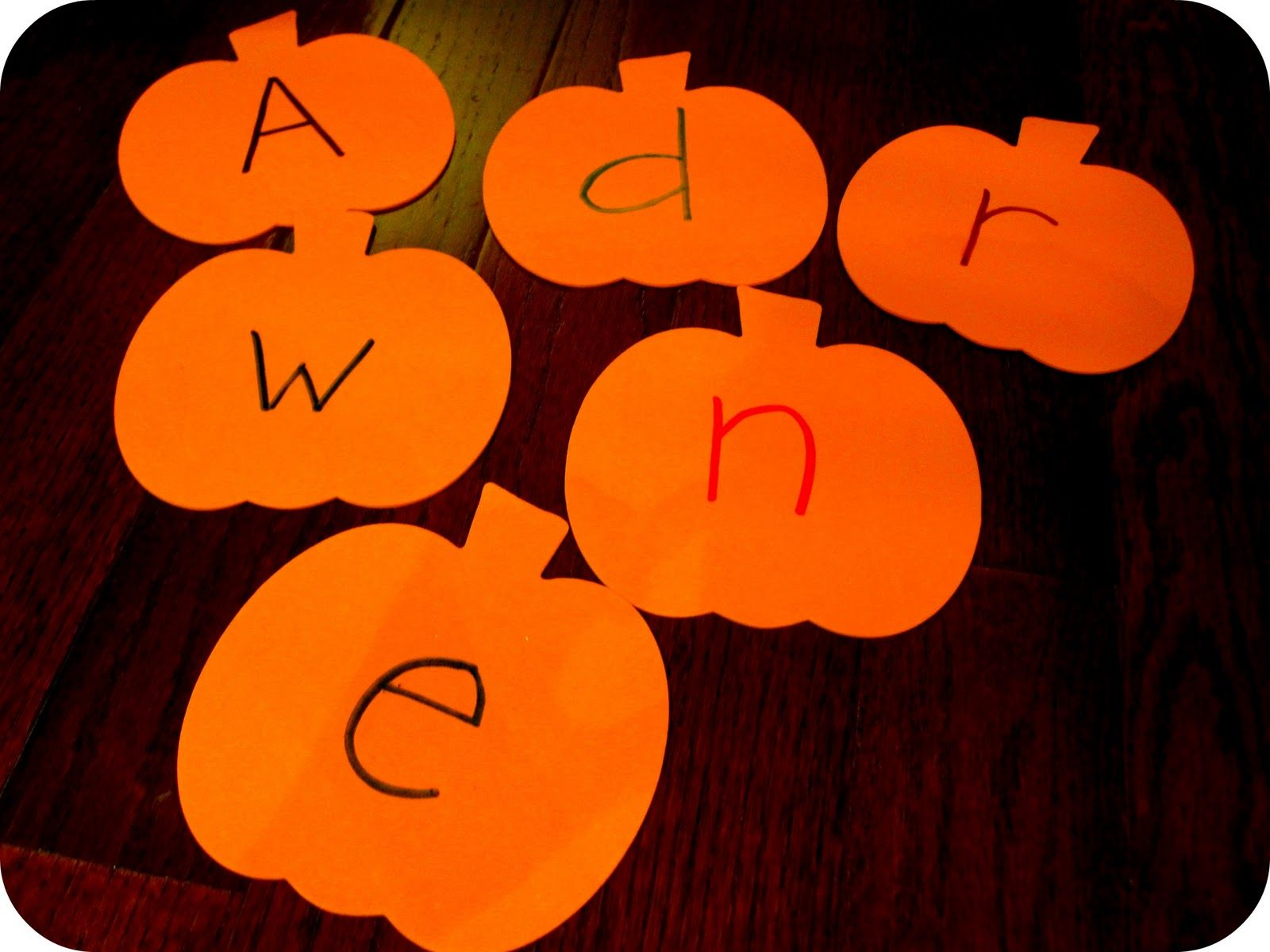 Name Pumpkin Spelling Hunt Fun learning, Games for