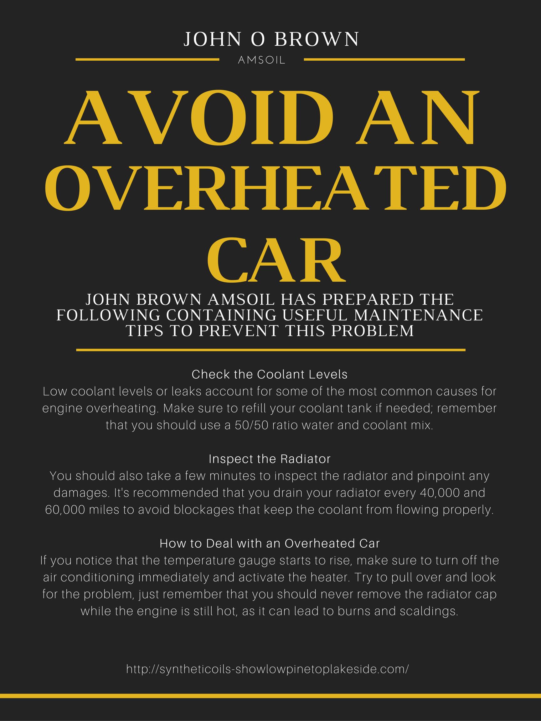 Tips from John O Brown - http://syntheticoils-showlowpinetoplakeside.com/