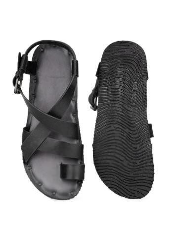 acac0692d144 Estd. 1977 Men Black Sandals