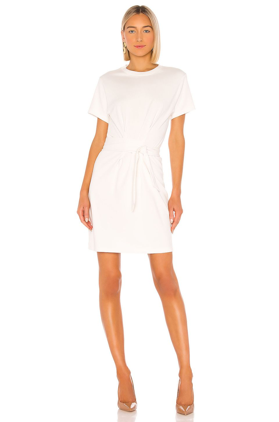 Vince Short Sleeve Waist Tie Dress In Off White Ad Affiliate Sleeve Waist White Short Mini Dress Hot Fashion Clothes Women Clothes For Women [ 1450 x 960 Pixel ]
