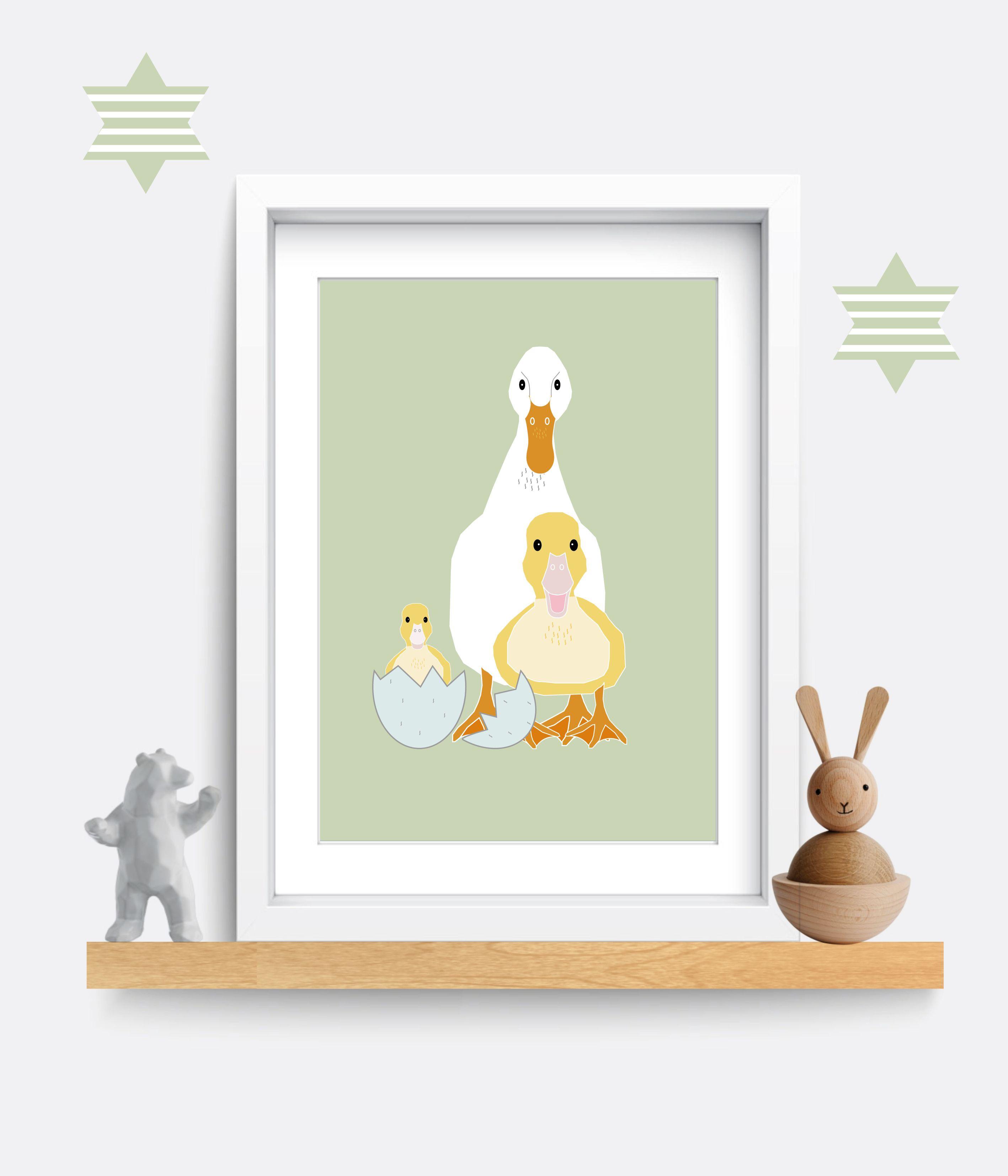 Nursery Decor. Duck print. Nursery wall art. Bedroom wall art ...
