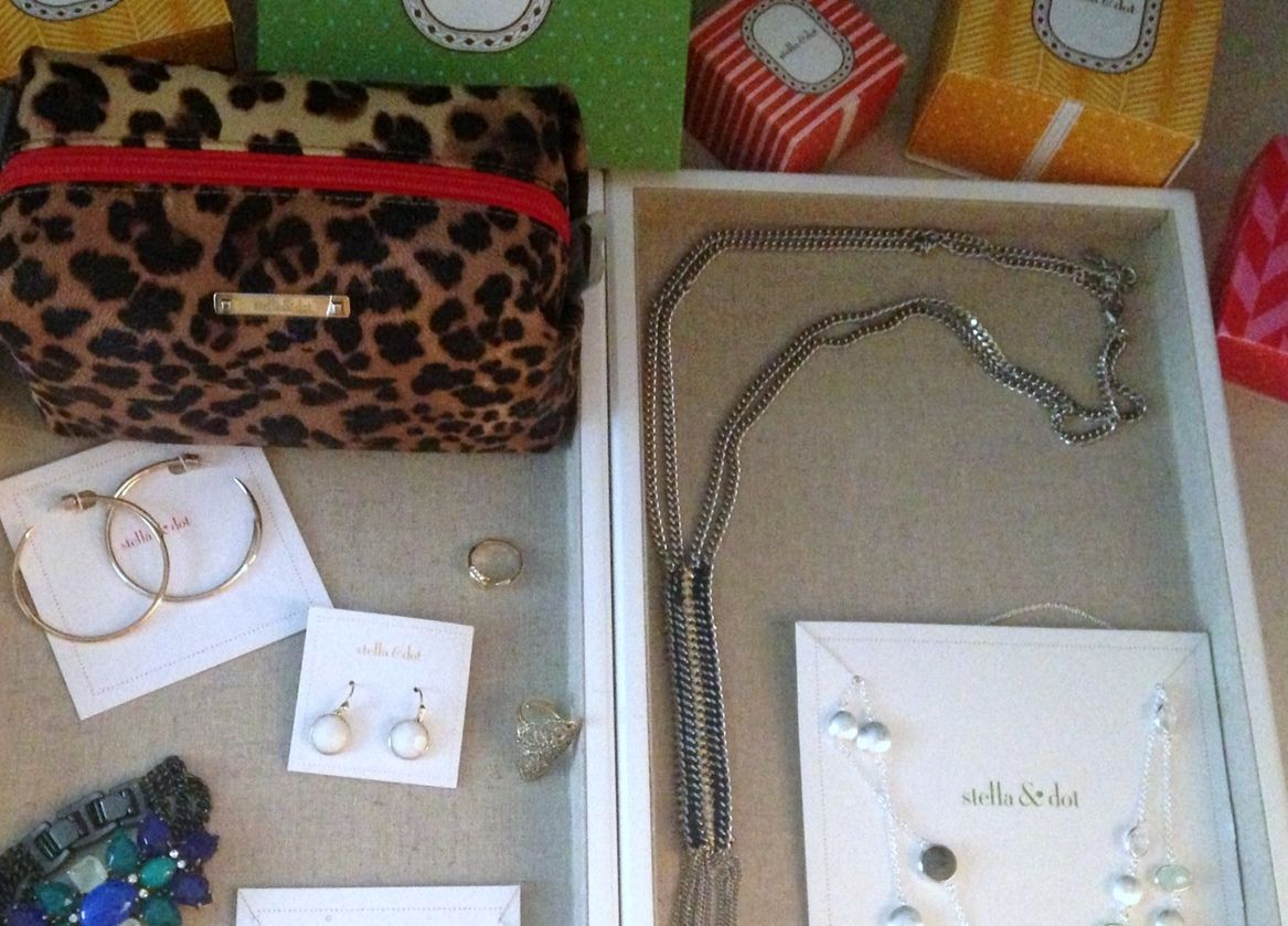 Just a few of my Stella & Dot goodies I got from the fall collection. (Almost lost that fab peacock bracelet today when I left it at the gym. WHEW!) http://www.stelladot.com/valenciascott