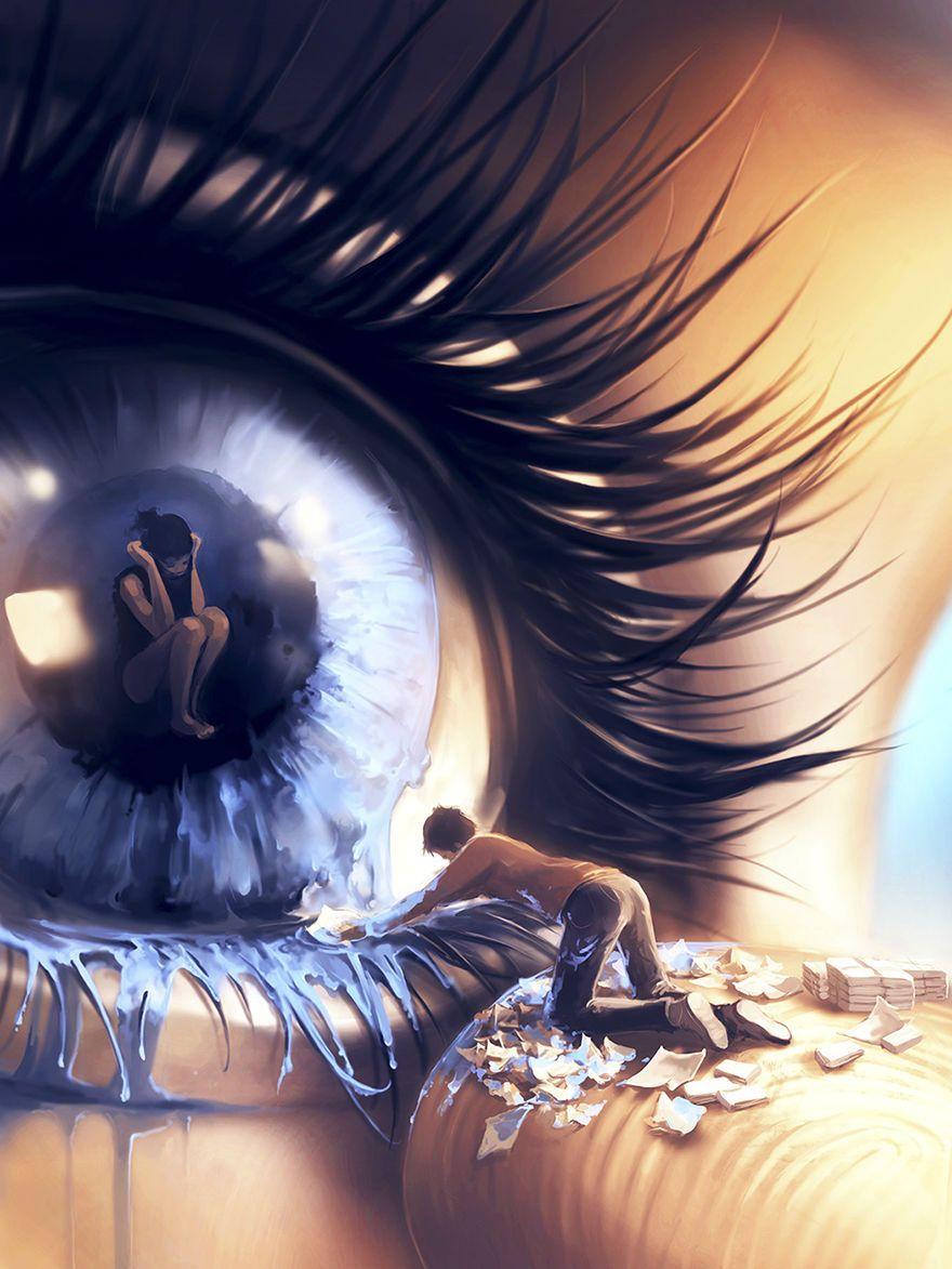 Stunning Digital Paintings Inspired by Hayao Miyazaki and Tim Burton