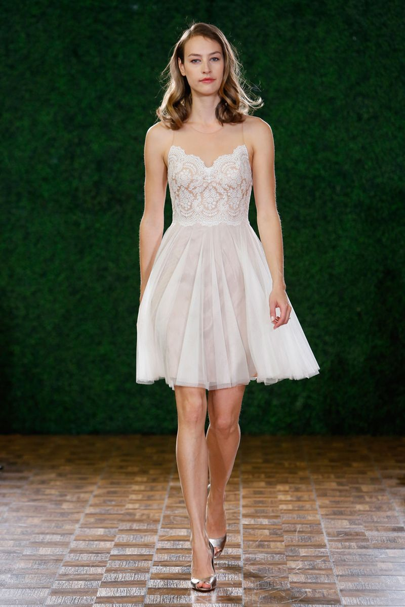 Green short dress for wedding  The Best Short Wedding Dresses From Fall  Bridal Week  Short