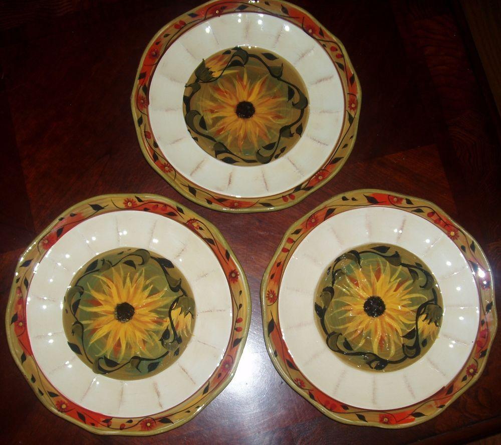 Lot of 3 Certified International Sunflower Dinner Plates Margaret Le Van VGUC #CertifiedInternational & Lot of 3 Certified International Sunflower Dinner Plates Margaret Le ...