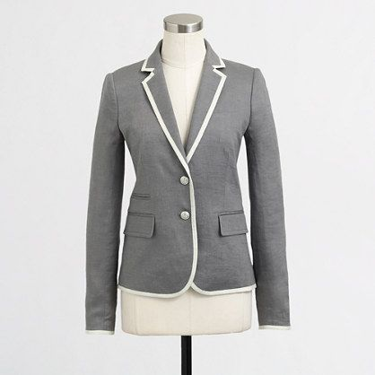 J.Crew Factory - Factory Keating boy blazer in tipped linen