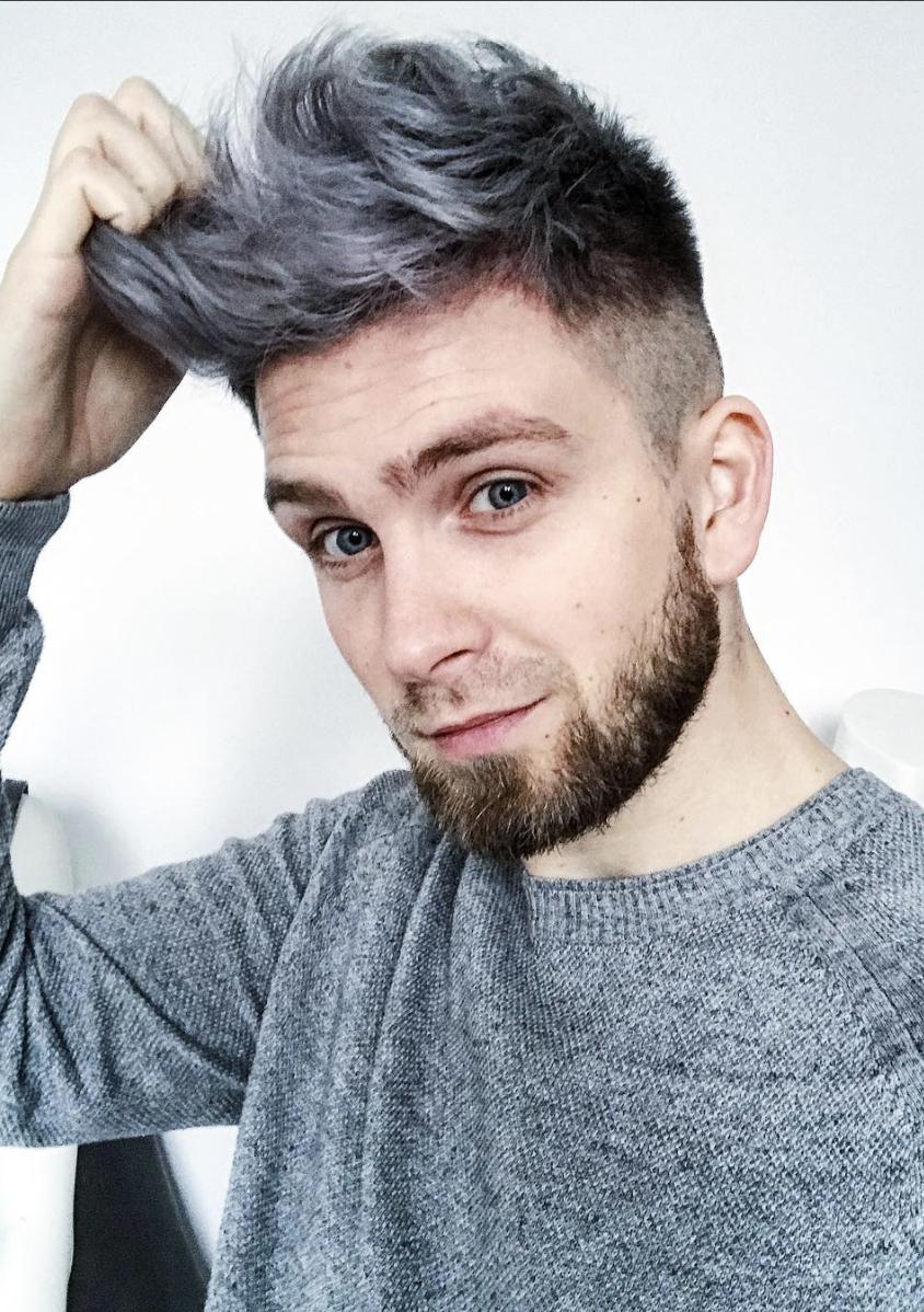Meskie Wlosy Szare Siwe Srebrne Hairstyle W 2019 Włosy