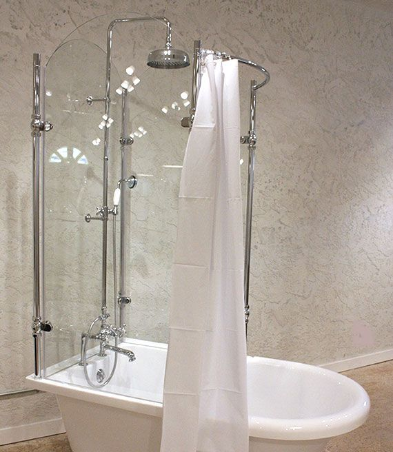 Vintage Tub And Glass Shower Combination Equals Vintage Style And