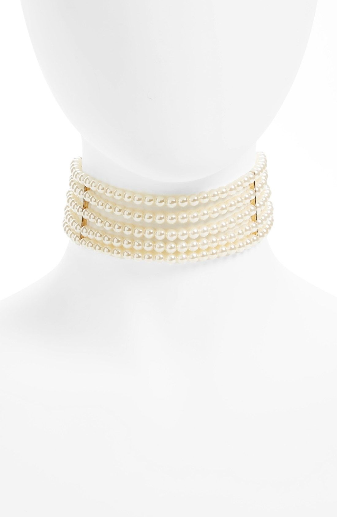 Leith Multistrand Faux Pearl Choker available at #Nordstrom