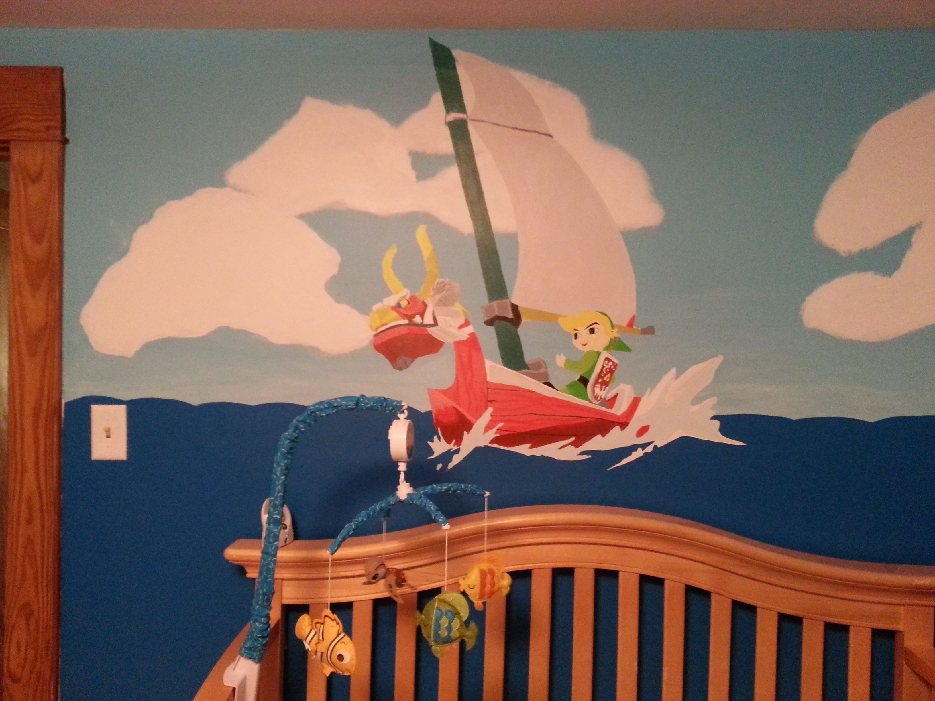 My son's Wind Waker baby room. (With images) | Zelda baby ...