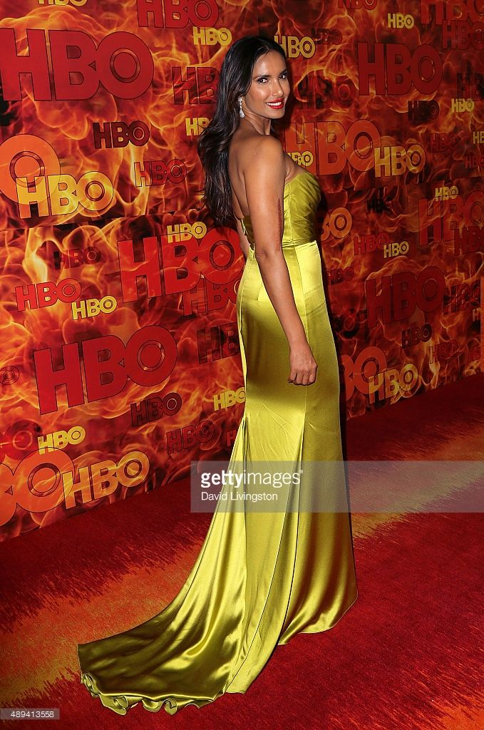 TV host/cookbook author Padma Lakshmi attends HBO's Official 2015 Emmy After Party at The Plaza at the Pacific Design Center on September 20, 2015 in Los Angeles, California.