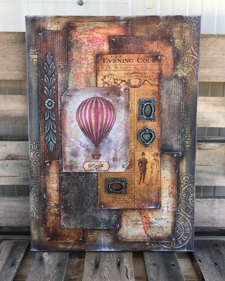 Steampunk Canvas Inspiration   Mix Media   Pinterest   Lablanche ...