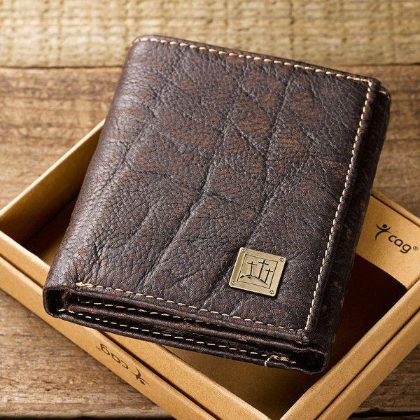 Genuine Leather Men S Rugged Tri Fold Wallet Calvary Crosses Leather Wallet Mens Brown Leather Wallet Wallet Men
