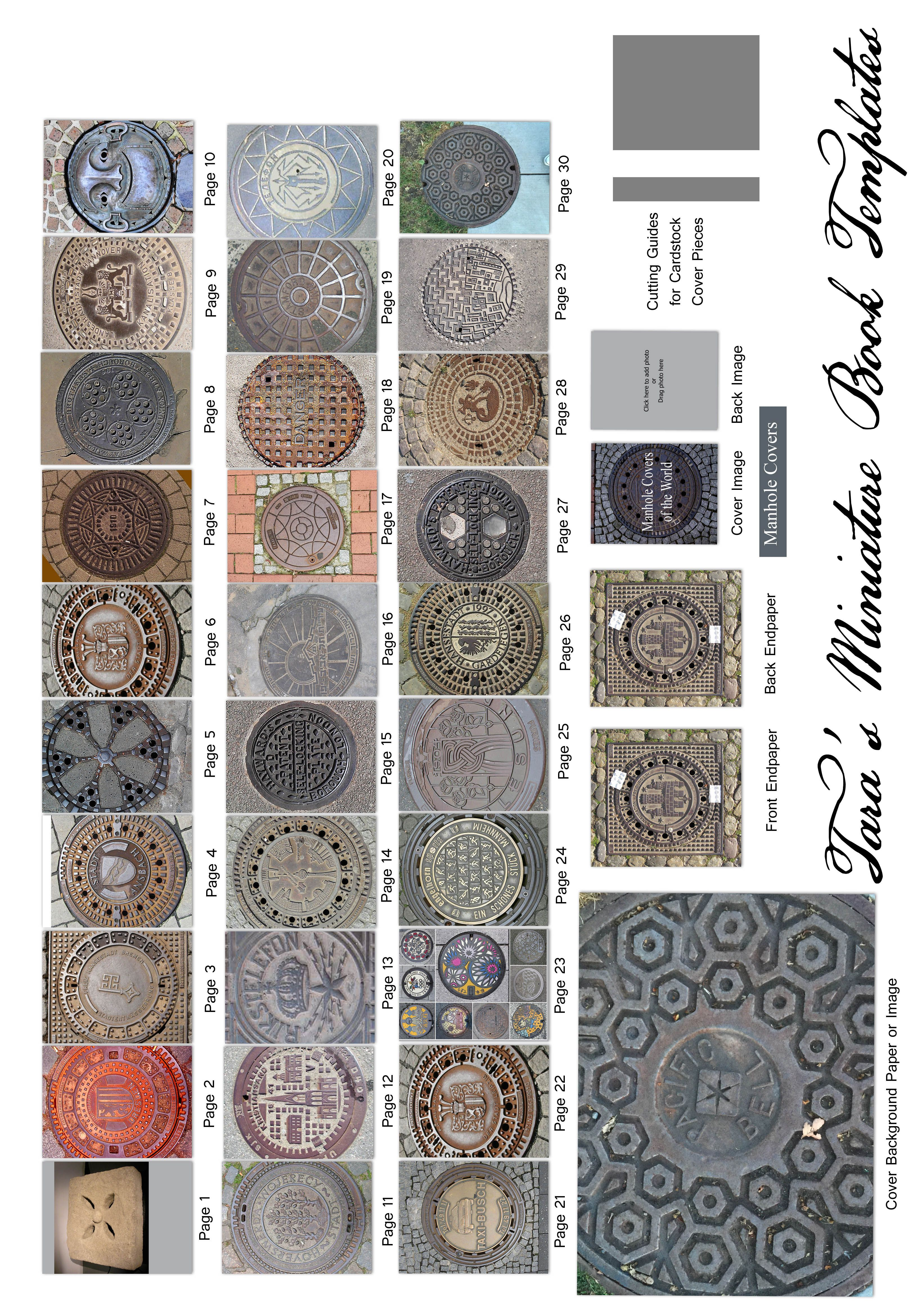 Miniature Book Cover Printables ~ My free miniature book printie of quot manhole covers the