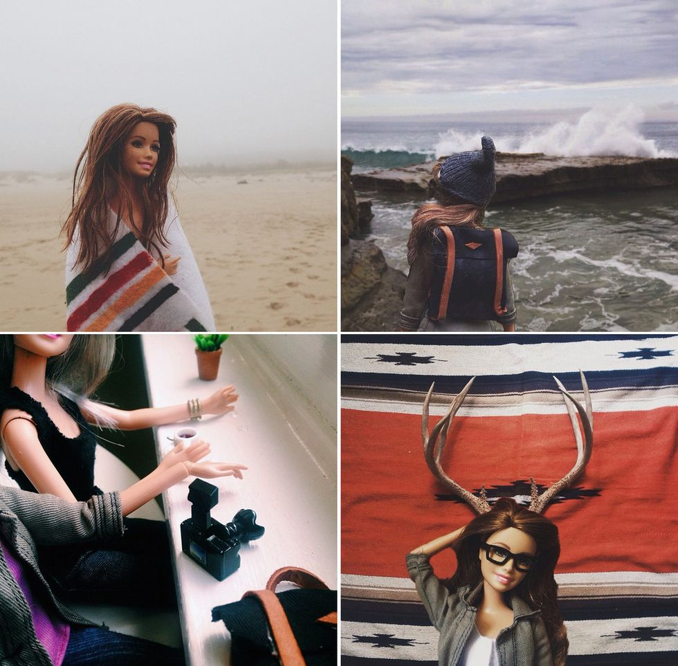 Socality Barbie living authentic life.