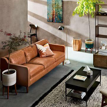 Hamilton Leather Sofa Westelm Sofa Home Living Room Sofa Sofa