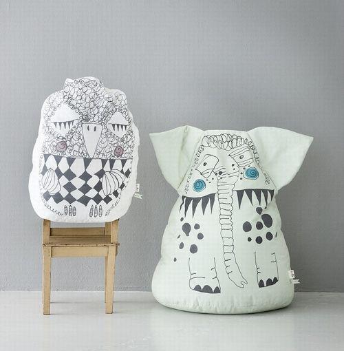 handmade charlotte  Bean Bags by ferm LIVING - from http://www.handmadecharlotte.com/bean-bags-ferm-living/