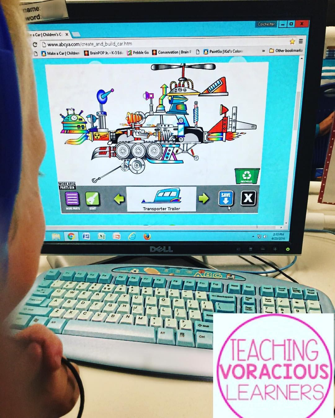 My Kindergarteners Designed Their Own Car On Abcya After We Read The