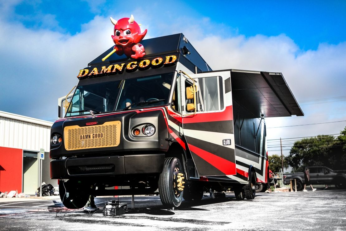 Torchy's Tacos Truck built by Cruising Kitchens out of San