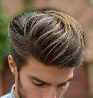 Great Haircut For Men Dyed Hair Men Dark Hair With Highlights Mens Hairstyles Thick Hair