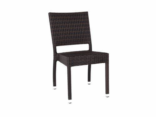 Ascot Stacking Rattan Side Chair - Garden Dining Chair - Outdoor ...