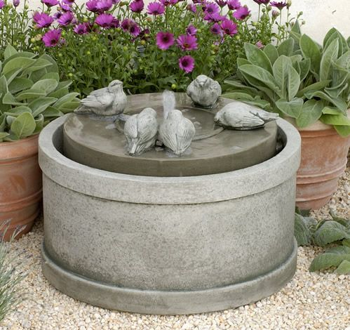 At Home With White Fountain, Stone fountains and Gardens