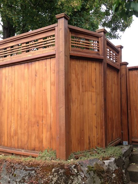 Opaque Fence With Nicer Topper And Capped Posts