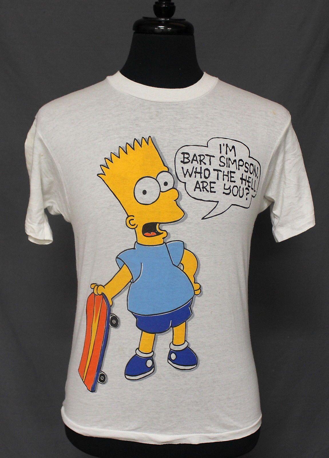 Vintage Bart Goes Raiders T-Shirt 1990/'s Bart Simpson Tee Rare TOP..,