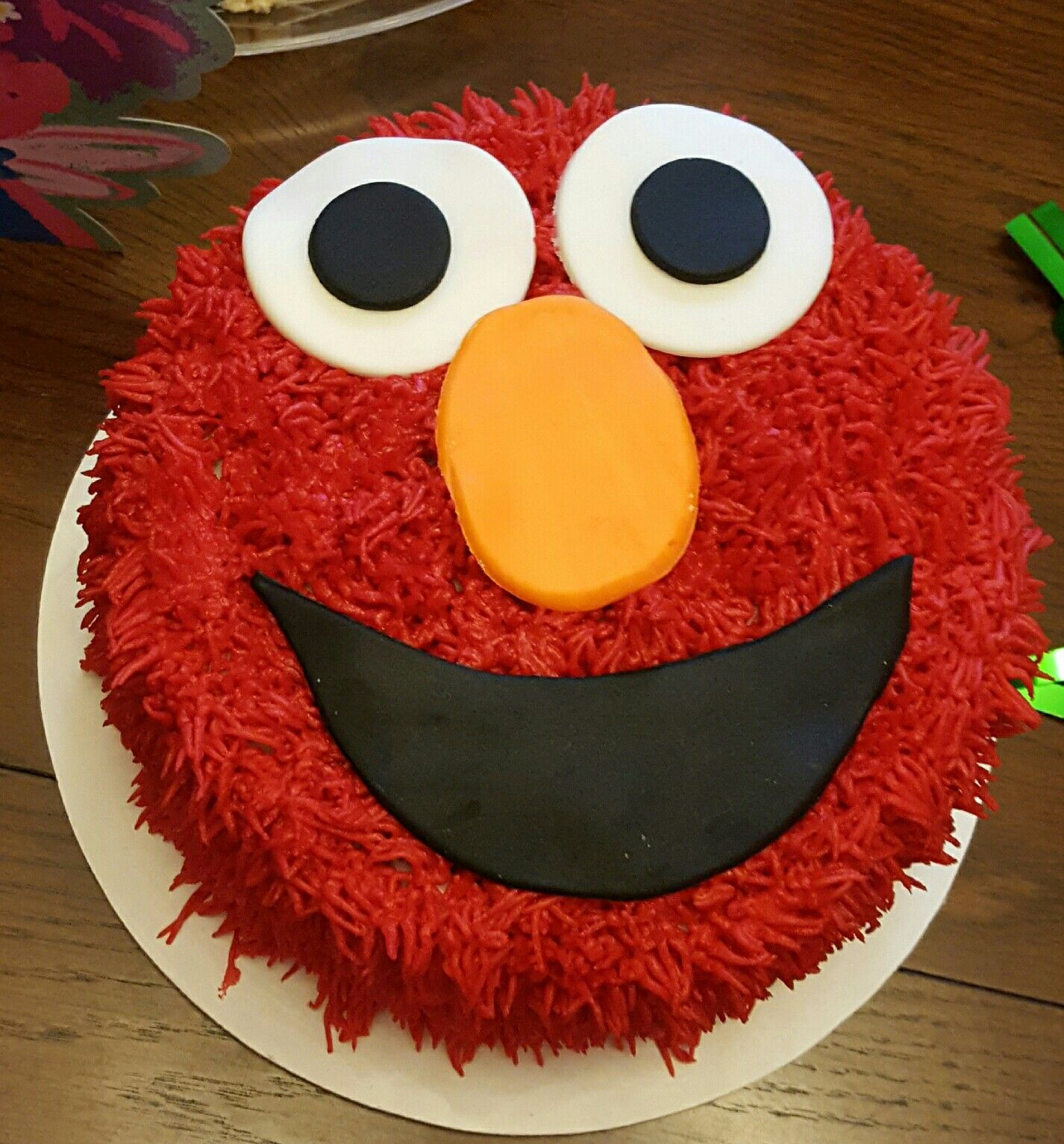Elmo Smash Cake Carsons birthday cake Pinterest Elmo smash