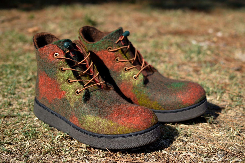 """Женские ботинки """"Осенний вальс"""" валяные. Ботинки. Валяная ..."""