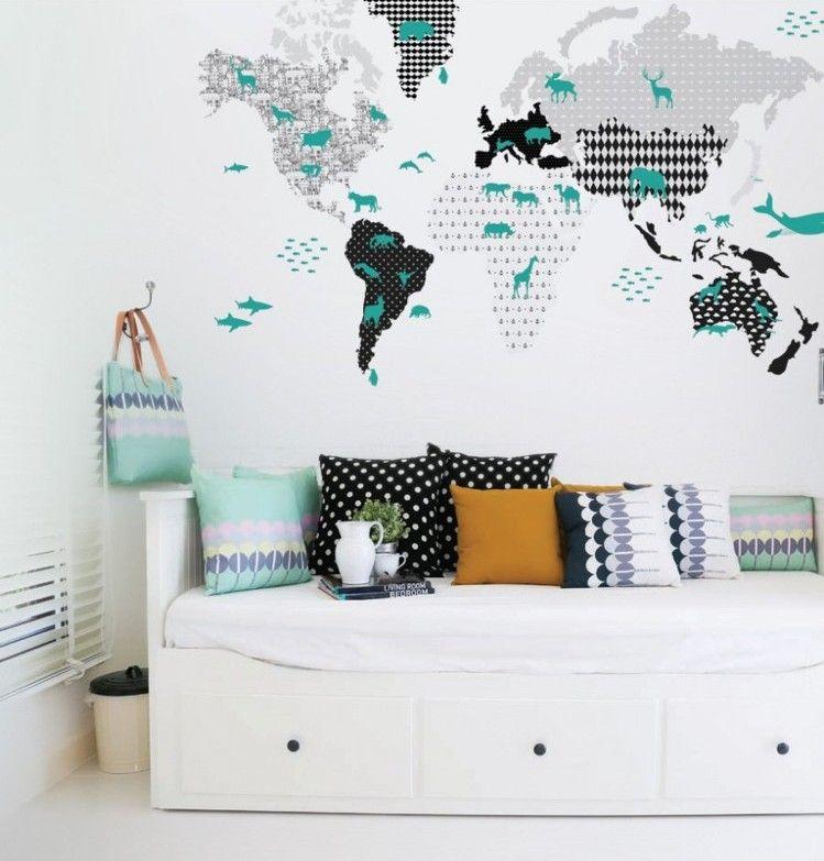 Décoration en stickers muraux 40 idées cool pour la chambre denfant