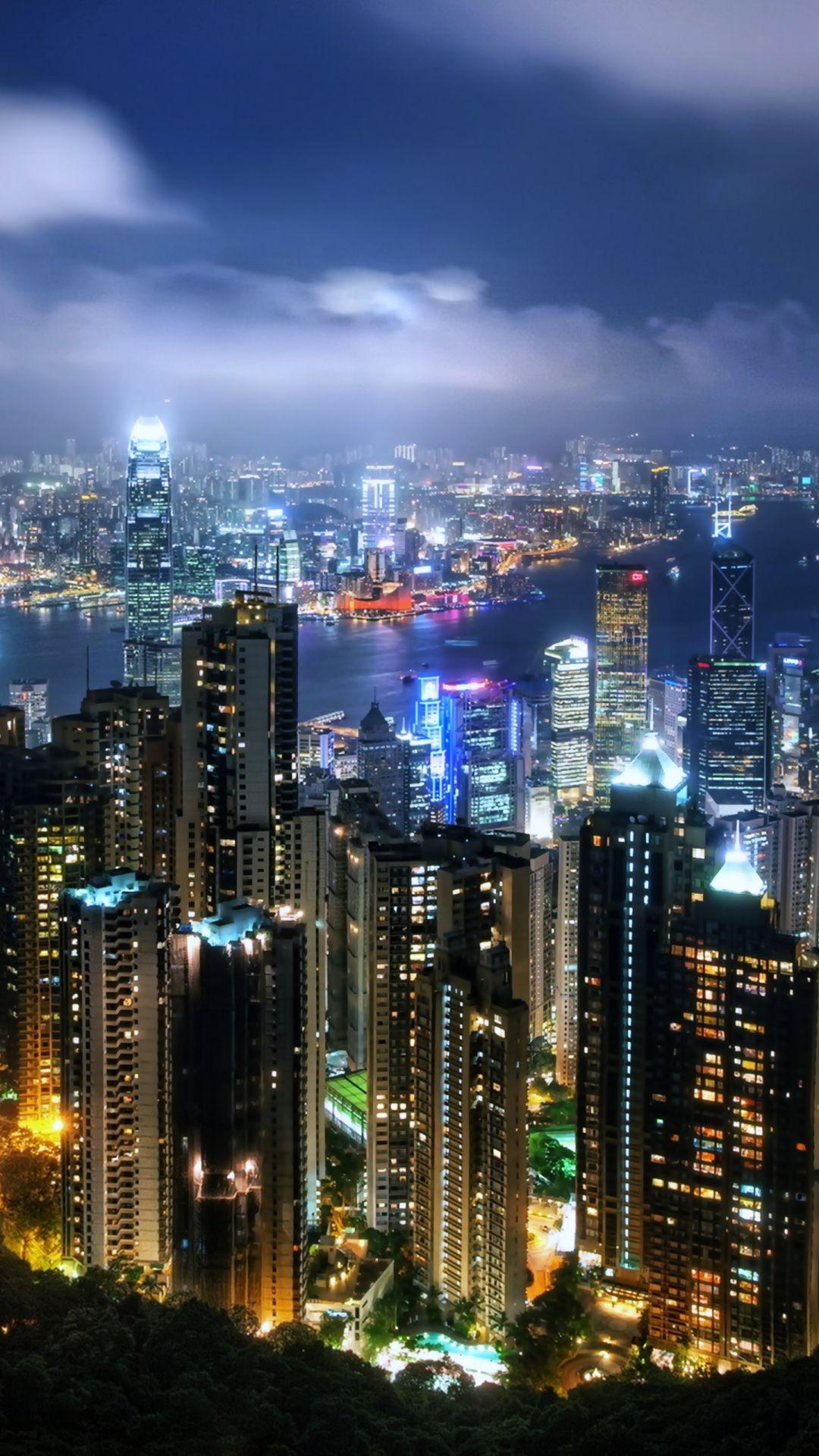 Man Made Hong Kong Cities China Building City Light Night