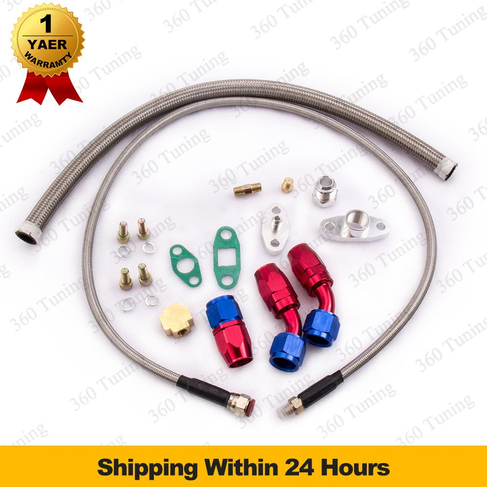 Universal Turbo Oil Line Kits Feed Line + Return Line kits