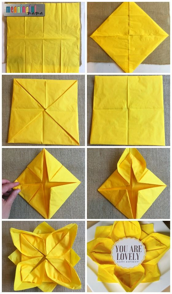 Flower paper napkin folding with sunflower table decorations flower paper napkin folding with sunflower table decorations mightylinksfo