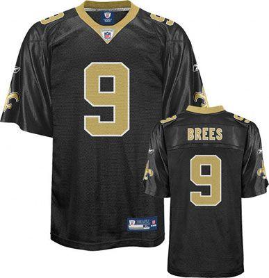 hot sale online 8772d c0e71 Reebok New Orleans Saints Drew Brees 9 Black Authentic ...